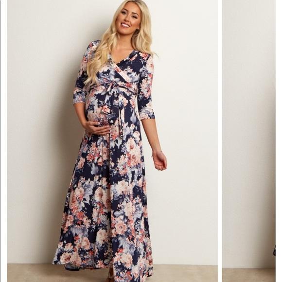 2f63fbceb7f0a Pinkblush Dresses   Maternitynursing Floral Wrap Dress   Poshmark
